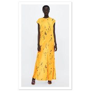 Zara Long Printed Dress - NWT